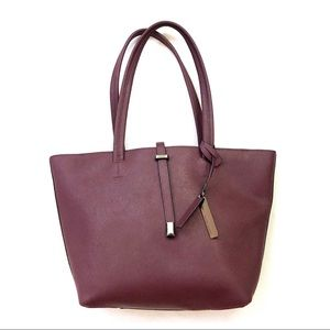 Vince Camuto Leila Leather Zip Tote In Bitten
